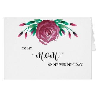 A mi tarjeta del día de boda de la mamá