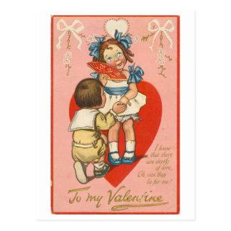 """A mi tarjeta del día de San Valentín "" Tarjeta Postal"