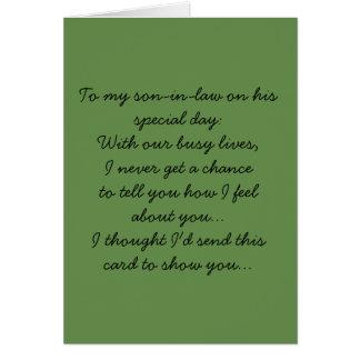 A mi yerno tarjeta de felicitación