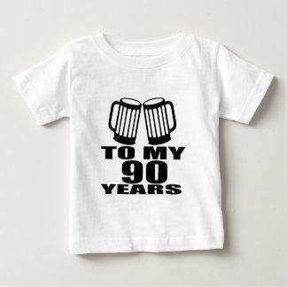 A mis 90 años de cumpleaños camiseta de bebé