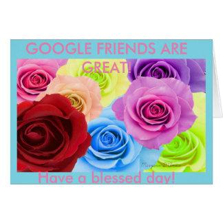 A mis grandes amigos de Google Tarjeton
