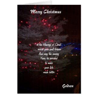 a mis tarjetas de Navidad del ahijado