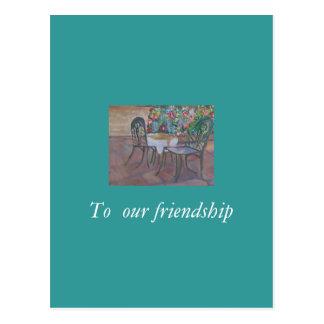 A nuestra amistad postal