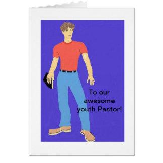 A nuestro pastor de la juventud tarjeta