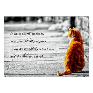 A-PAL - Condolencia anaranjada del mascota del Tarjeta De Felicitación
