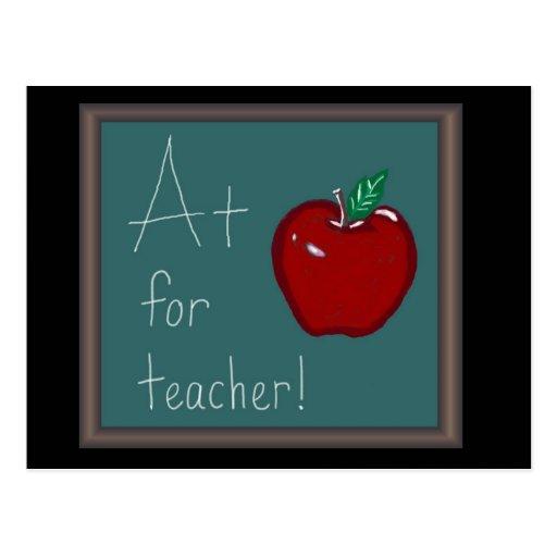 A+ para el profesor tarjetas postales