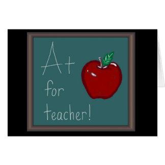 A+ para el profesor tarjetas