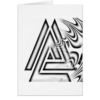 A piramidal tarjeta de felicitación