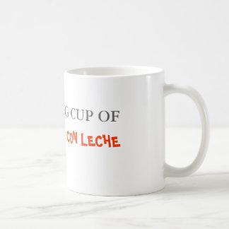 A relaxing cup of café con leche taza de café