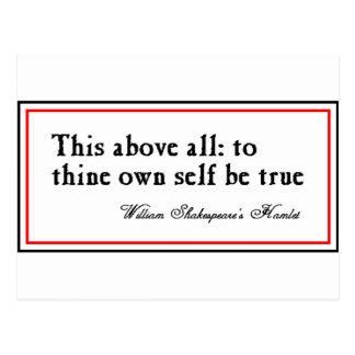 """""""A Thine posea al uno mismo sea verdad """" Postal"""