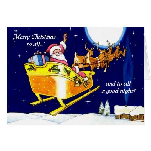A todo el una tarjeta de las buenas noches