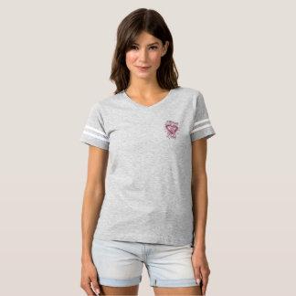 A través de camiseta de fútbol del cáncer de pecho