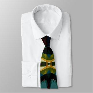 A través de la corbata de los hombres geométricos