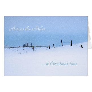 A través de la tarjeta de felicitación del navidad