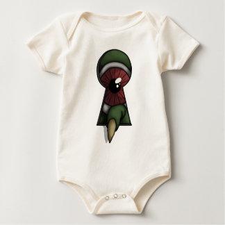 A través del ojo de la cerradura, niños/camisa de body para bebé