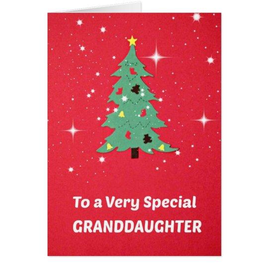 A una nieta muy especial tarjeta de felicitación