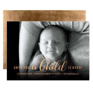 A usted un niño es tarjeta de Navidad nacida del Invitación 12,7 X 17,8 Cm