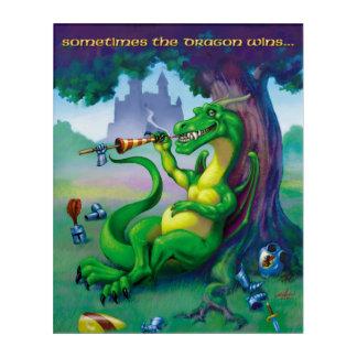 A veces los triunfos del dragón - verde impresión acrílica