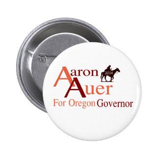 Aaron Auer para el perno del gobernador de Oregon Chapa Redonda De 5 Cm