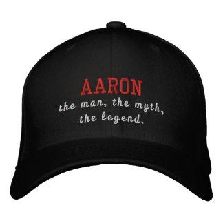 Aaron el hombre, el mito, la leyenda gorra bordada
