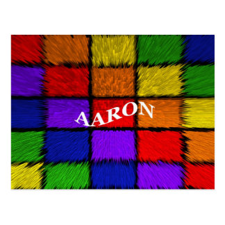 AARON (nombres masculinos) Postal