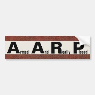 AARP significa ARMADO Y PISSED REALMENTE Pegatina Para Coche