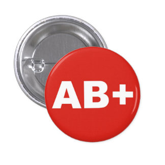 AB+ Insignia positiva el derecho del tipo/del Chapa Redonda De 2,5 Cm
