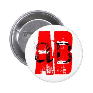 AB - = tipo de sangre Pins
