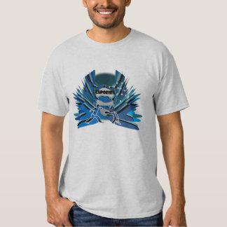 abada del hacha del feliz cumpleaños del capoeira camisetas