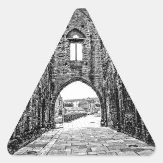 Abadía de Arbroath Pegatina Triangular