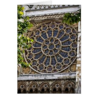 Abadía de Westminster - vitral - tarjeta