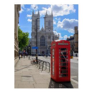 Abadía de Westminster y postal roja de Londres