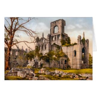 Abadía West Yorkshire Inglaterra de Kirkstall Tarjeta