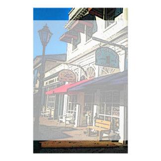 Abajo ciudad histórica de las aguas termales papeleria