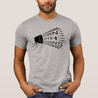 Abajo con lemas camiseta