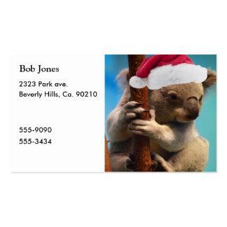 Abajo debajo de koala del navidad tarjetas de visita