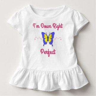 Abajo derecho perfeccione, mariposa de Síndrome de Camiseta De Bebé