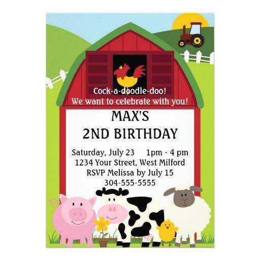 Abajo en el cumpleaños de la granja 2 comunicado personal