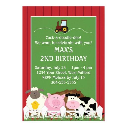 Abajo en el cumpleaños de la granja anuncios