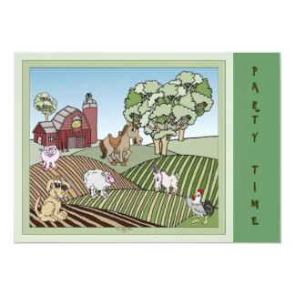 Abajo en la granja invitación 12,7 x 17,8 cm