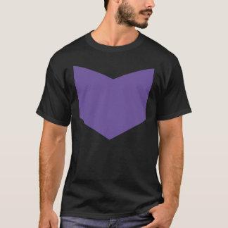 Abajo flecha púrpura camiseta