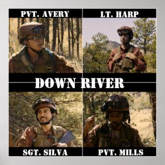 Abajo poster del río póster