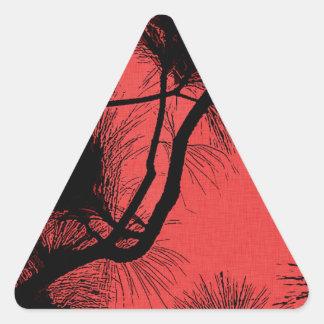 Abandone las flores de la plantilla de la flora en pegatina triangular