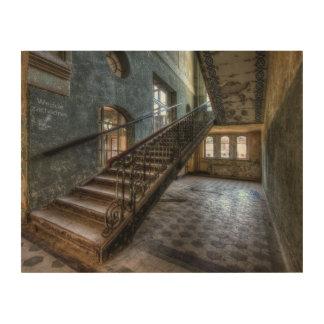Abandoned Place lienzo de madera escalera madera