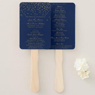 Abanico Azules marinos y programa atractivo del boda del