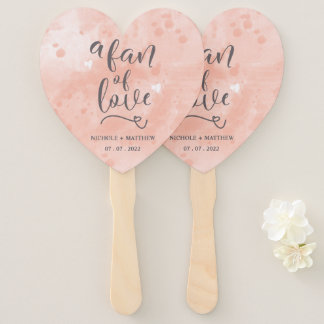 Abanico El personalizado una fan de la caligrafía del amor