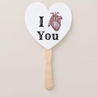 Abanico I corazón usted