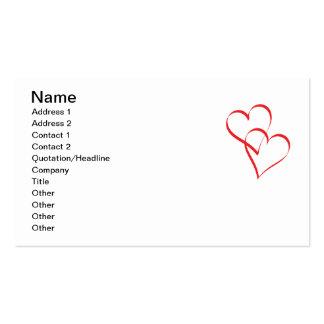 Abarcamiento de corazones tarjeta de visita