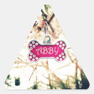 Abby Pegatina Triangular