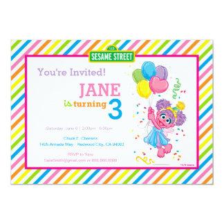 Abby rayó cumpleaños invitación 12,7 x 17,8 cm